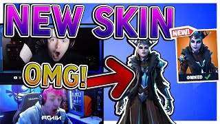 """TFUE + NINJA REACT TO *NEW* """"ICE QUEEN"""" SKIN! *LEGENDARY* Fortnite FUNNY & EPIC Moments"""