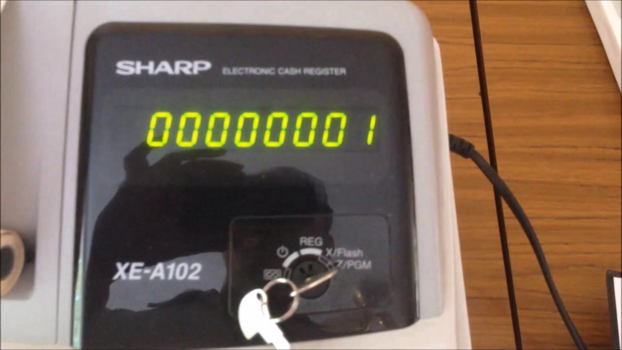 sharp xe a102. sharp xe-a102 cash register: how to set printer into the journal mode? xe a102 e
