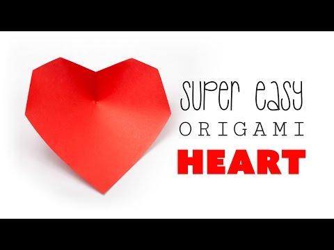 Super Easy Origami Heart Tutorial - DIY - Paper Kawaii