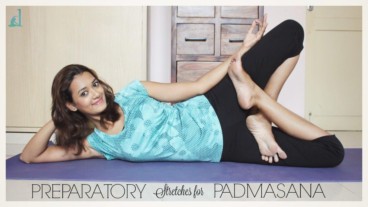 Preparatory stretches for Padmasana | Lotus Pose | Dhivyam ...