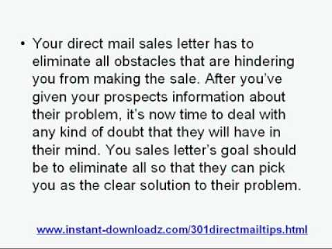 Why Your Sales Letter Is An Important Factor In Your Direct Mail