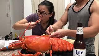 Phong Vlogs9   Ăn Tôm Hùm 6Kg Khổng Lồ  Eat Big Lobster 12lbs
