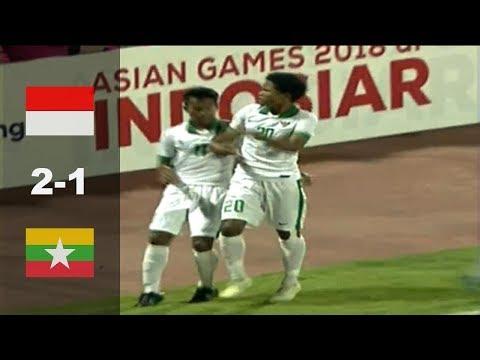 Indonesia U16 vs Myanmar U16 (2-1) Highlight AFF U16 2018