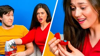 Crazy Couple Pranks || 32 DIY IDEAS TO SURPRISE AND PRANK YOUR FRIEND
