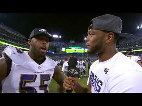 Jimmy Smith Takes Over Broadcast And Interviews Terrell Suggs | Ravens Gameday | Baltimore Ravens