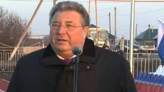 Открытие стадиона в Новотроицком