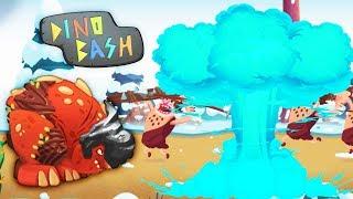 Dino Bash | Новый СУПЕРСНАРЯД - ЛЕДЯНАЯ БОМБА! Мульт игра Динозавры Против Первобытных Людей