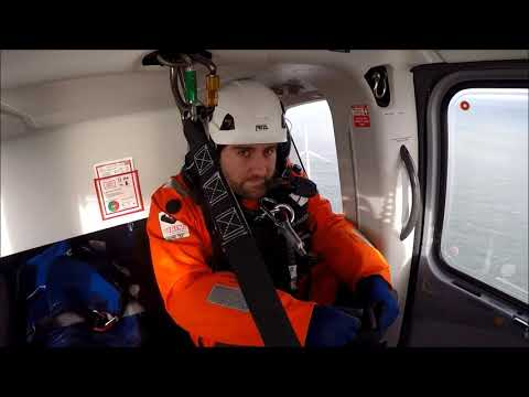 Offshore Wind Turbine Helicopter Pickup and Dropoff