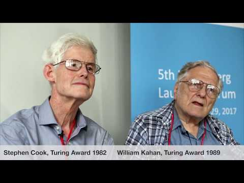 Laureate interviews at the 5th HLF: Stephen A. Cook and William Morton Kahan