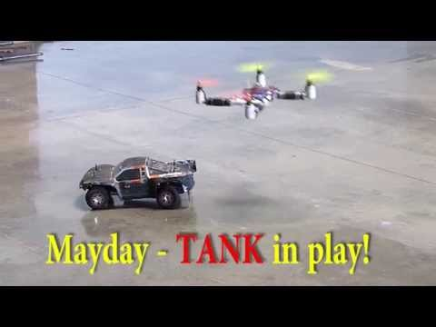 "Game of Drones - UAV Quadcopters Fight, ""Tank,"" too!"