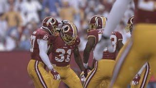 Madden NFL 16 - Dallas Cowboys v Washington Redskins Gameplay [1080p 60FPS HD]