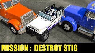 MISSION : DESTROY THE DUMMIES - BeamNG Drive Stig Car Crashes
