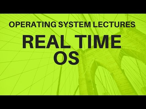 Video 6 :-Types of OS  Real Time Operating System
