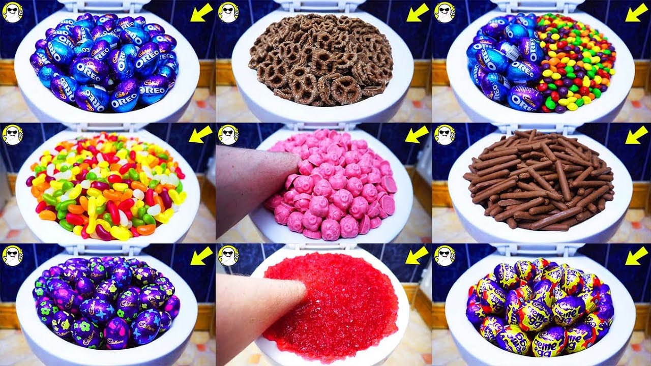 Will it Flush? Lots Of Candy Compilation