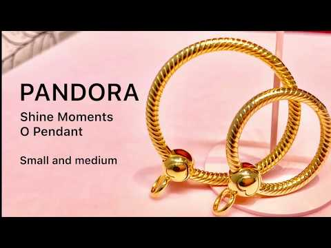 Pandora SHINE Moments O Pendant - Medium 368256 & Small 368296