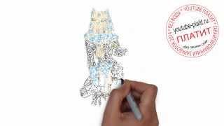 Как нбыстро и красиво нарисовать женщину кошку простым карандашом за 24 секунды