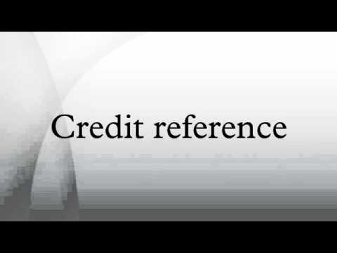 Credit reference