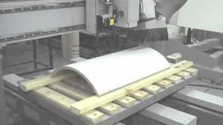 обработка гнутого фасада