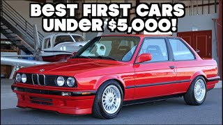 Top 10 BEST FIRST CARS UNDER $5,000!