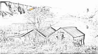 Auto Draw 2: Boat Houses, Aberfoyle, Scotland