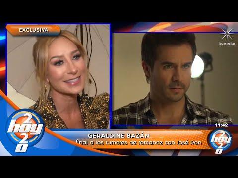 ¿Existe romance entre Geraldine y José Ron? La actriz nos responde | Hoy