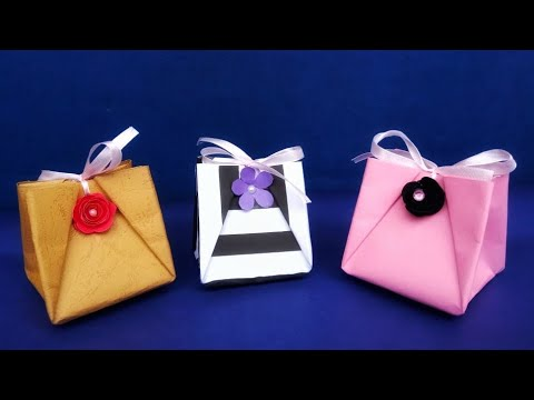 How To Make a Paper Gift Bag With Handles. Easy to do/Gift Wrap Ideas For Valentines Day/Anniversary