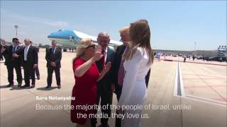 Trumps and Netanyahus take a jab at the media