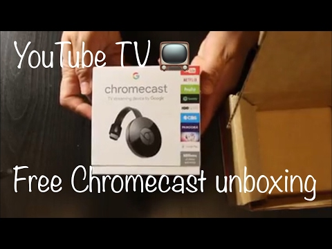 YouTube TV's Free chromecast unboxing