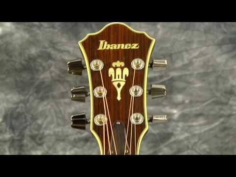 Video Demo Ibanez R400 Ragtime Acoustic Guitar Arched Back Pro Setup Hardshell Case 1981 Natural