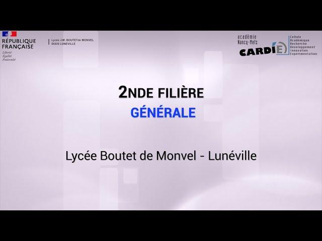Lycée Boutet de Monvel à Lunéville -Voie Générale