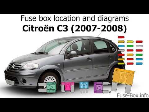 Fuse Box Location And Diagrams Citroen C3 2007 2008 Youtube