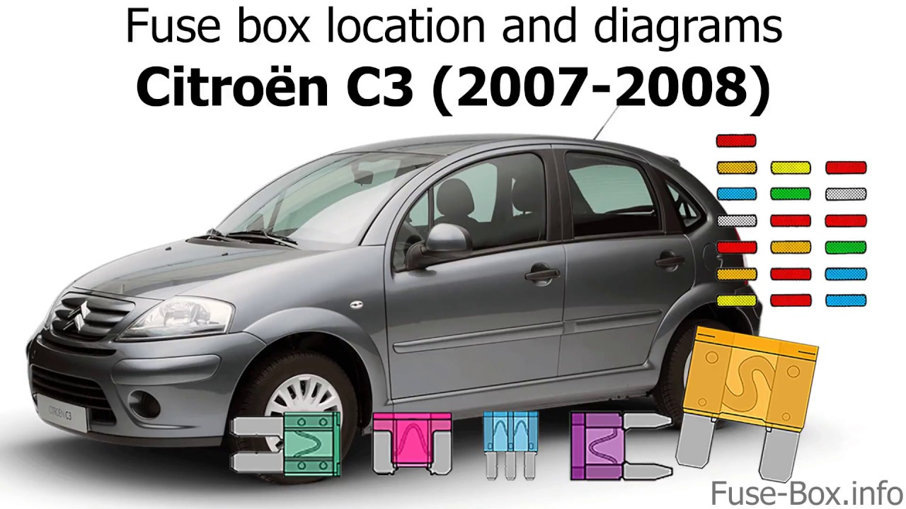 Fuse box location and diagrams: Citroen C3 (2007-2008) - YouTube | Citroen C3 2007 Wiring Diagram |  | YouTube