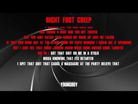 YoungBoy Never Broke Again – Right Foot Creep [Official Lyric Video]