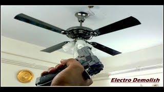 """Ceiling Fan Falling Down Part 7 Domestic Ceiling Fan """"USHA Fontana Lotus"""" , HD1080p"""