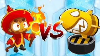 WIZARD VS BOMB :: 100+ WIZARD LATEGAME! INSANELY CLOSE BATTLE :: Bloons TD Battles