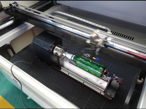 How to Engrave the Bottle with Chuck Type Rotary Axis in Laser Machine  RuiDa Control System?