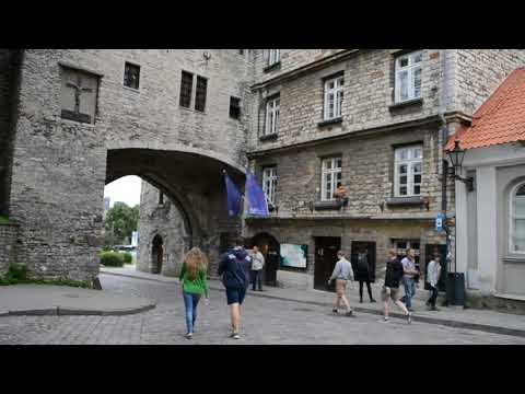 tallin la porta d'ingresso medievale risale al 1400 circa