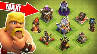 Clash Of Clans - WE ARE SO CLOSE!! - ROAD TO MAX TOWN HALL 11 DEFENSES!