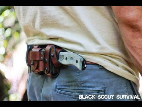 Horizontal belt knife carry