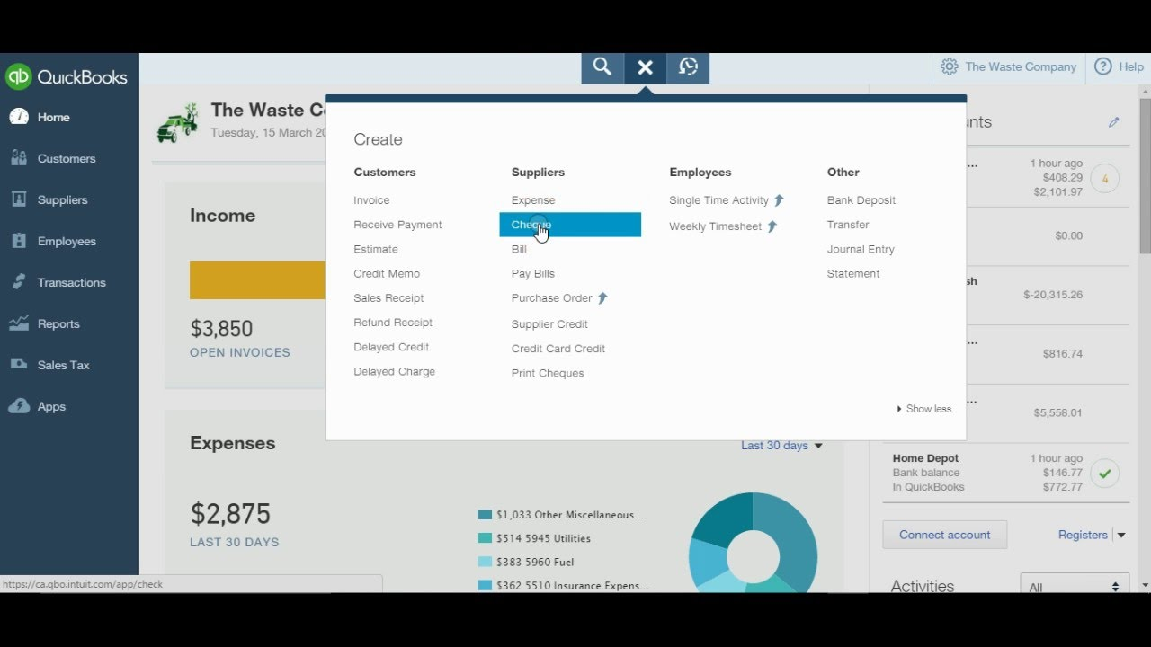 How to enter credit card payments in quickbooks online