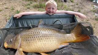 3 Day Back Country Camping & Fishing - 6 Yr Old Catches MONSTER CARP!