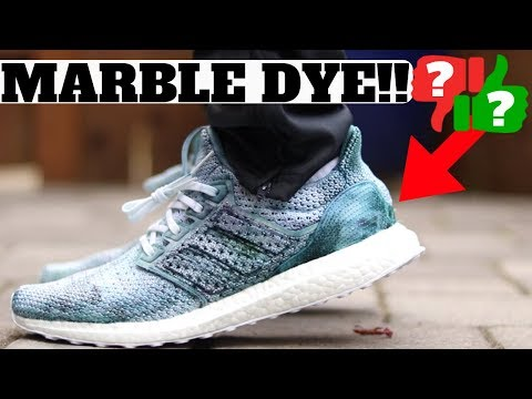 SNEAKER CUSTOM: HOW TO MARBLE DYE SNEAKERS! ULTRA BOOST TUTORIAL