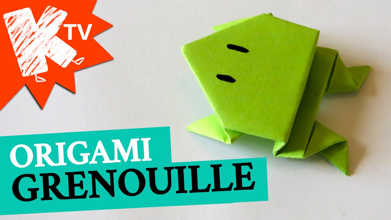 origami facile video grenouille