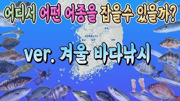 겨울시즌 낚시어종 정보를 한 곳에서 만납니다!