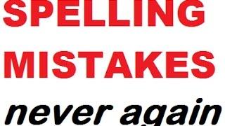ENGLISH SPELLING MISTAKES NEVER AGAIN - Funny tricks to remember spellings forever