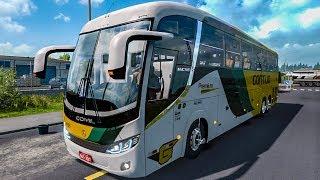 Viajando PELO BRASIL Euro Truck Simulator 2 na Viação GONTIJO Ônibus Comil Invictus G27!