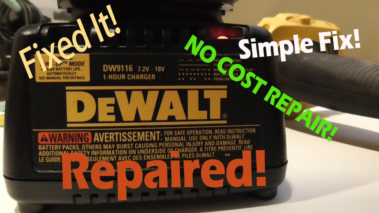 Dewalt Battery Charger Repair Dw9116