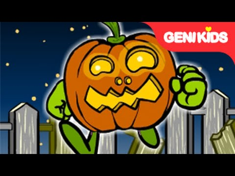 Five Little Pumpkins  Counting Nursery Rhyme with Lyrics  Halloween Song for Children ★Genikids