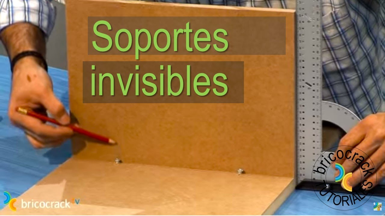 Poner soportes invisibles (Bricocrack) - YouTube