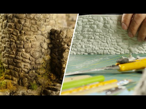 🛠Pro Tips |  🏰EASY, realistic stone walls with clay!  DIY texture roller🏰